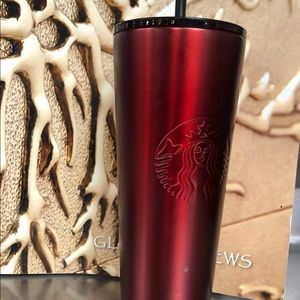Starbucks red and black thermo